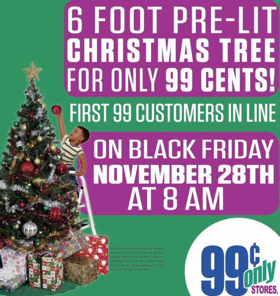 6' Pre-Lit Christmas Trees Only $0.99! {Black Friday Deal