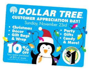 dollar tree customer appreciation
