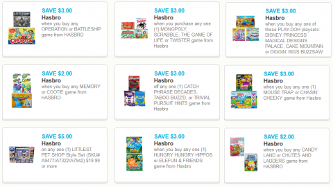 hasbro game coupons