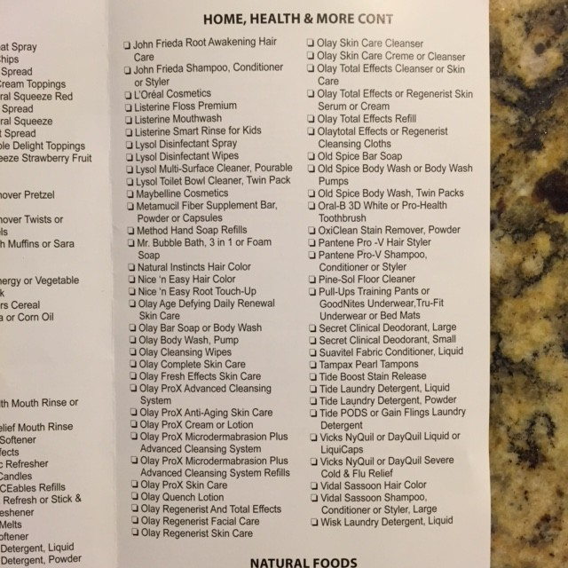 Kroger Mega Event Full Inclusion List 12 03 14 Page 3 Of