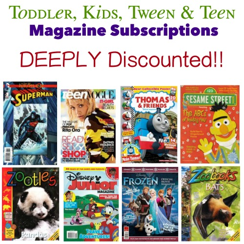 Kids, Tween & Teen Magazine Subscriptions!