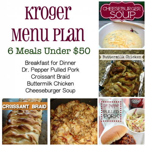 Kroger menu plan
