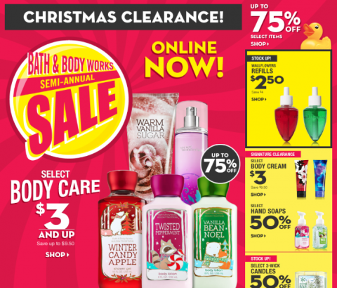 Bath & Body Works Christmas Clearance up to 75% off ...