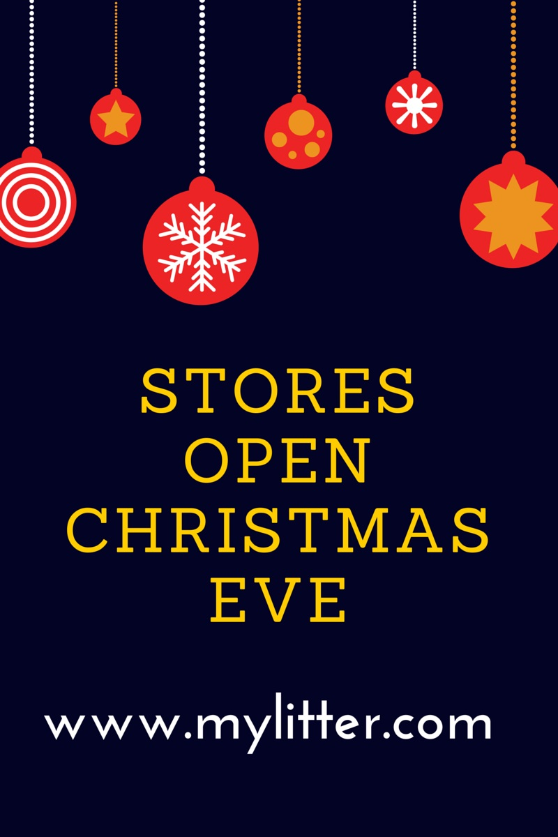 Stores Open Christmas Eve - MyLitter - One Deal At A Time