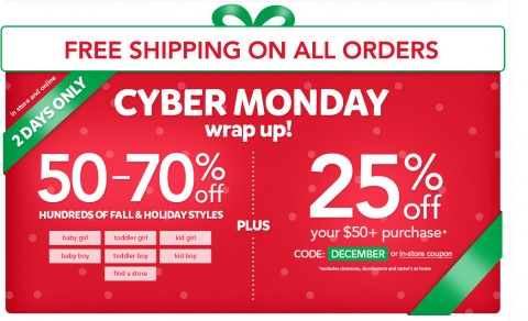 Carters Free Shipping With No Minimum Plus Coupon Codes Mylitter
