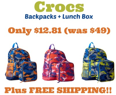 HURRY* Kids Crocs Backpack   Lunch Box only $12.81 Shipped!