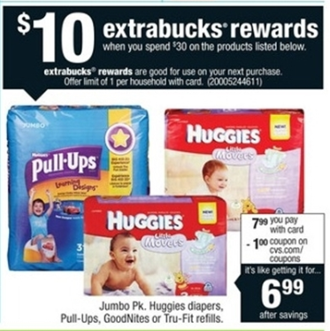 cvs huggies diaper deal