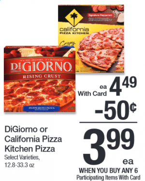 image regarding Digiorno Pizza Coupon Printable named Kroger Mega Occasion: DiGiorno Pizzas basically $2.99 each and every