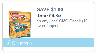 jose ole snacks coupon