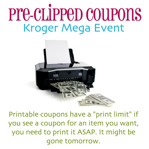 Pre Clipped Coupons For Upcoming Kroger Mega Event