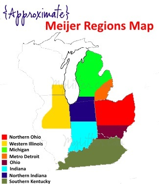 Meijer Regions Map