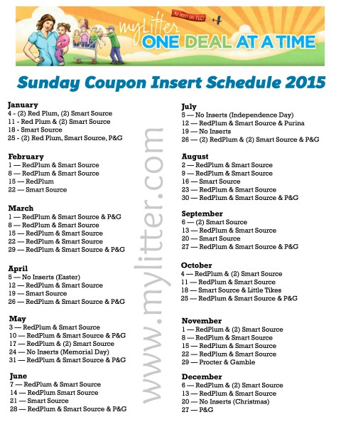 Sunday Coupon Preview for 9/27 {3 Inserts} - MyLitter ...