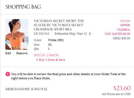 0f82210240 20% Off Bras Coupon Code for Victoria Secret Ends Sunday ...