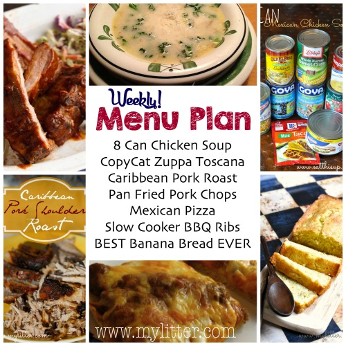 weekly menu plan 20415