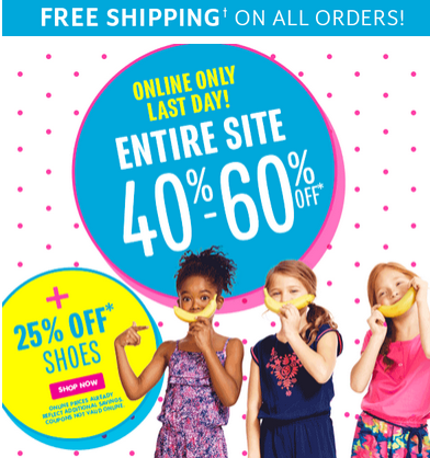 Browse for The Children's Place coupons valid through December below. Find the latest The Children's Place coupon codes, online promotional codes, and the overall best coupons posted by our team of experts to save you 15% off at The Children's Place.