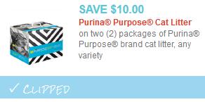 purina purpose litter coupon