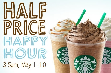 Happy Hour Starbucks Prices Starbucks Half Price Happy