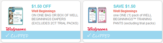 Training diapers coupons