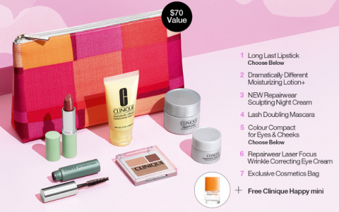 Clinique Bonus Time: 9 Freebies with $35 Purchase