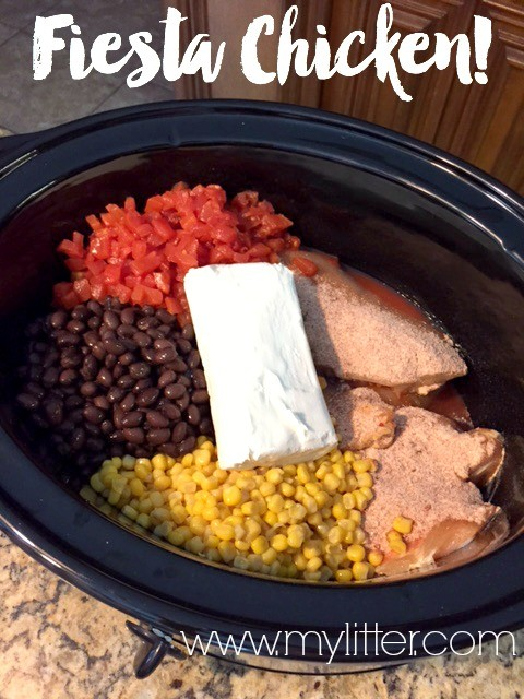Fiesta Chicken Crockpot Recipe Easy Slow Cooker Recipe