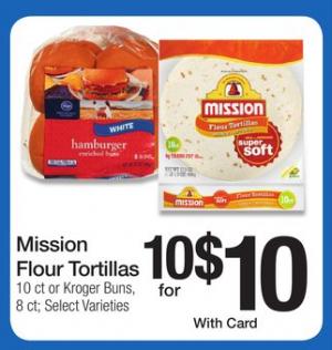 mission tortilla kroger deal