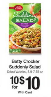 suddenly salad kroger deal