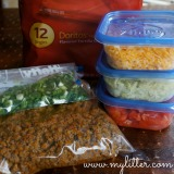 Taco Salad In A Bag is a perfect fun dinner the kids are sure to love. Also called Walking Tacos, they are great for making & taking when you are trying to get to after school activities.