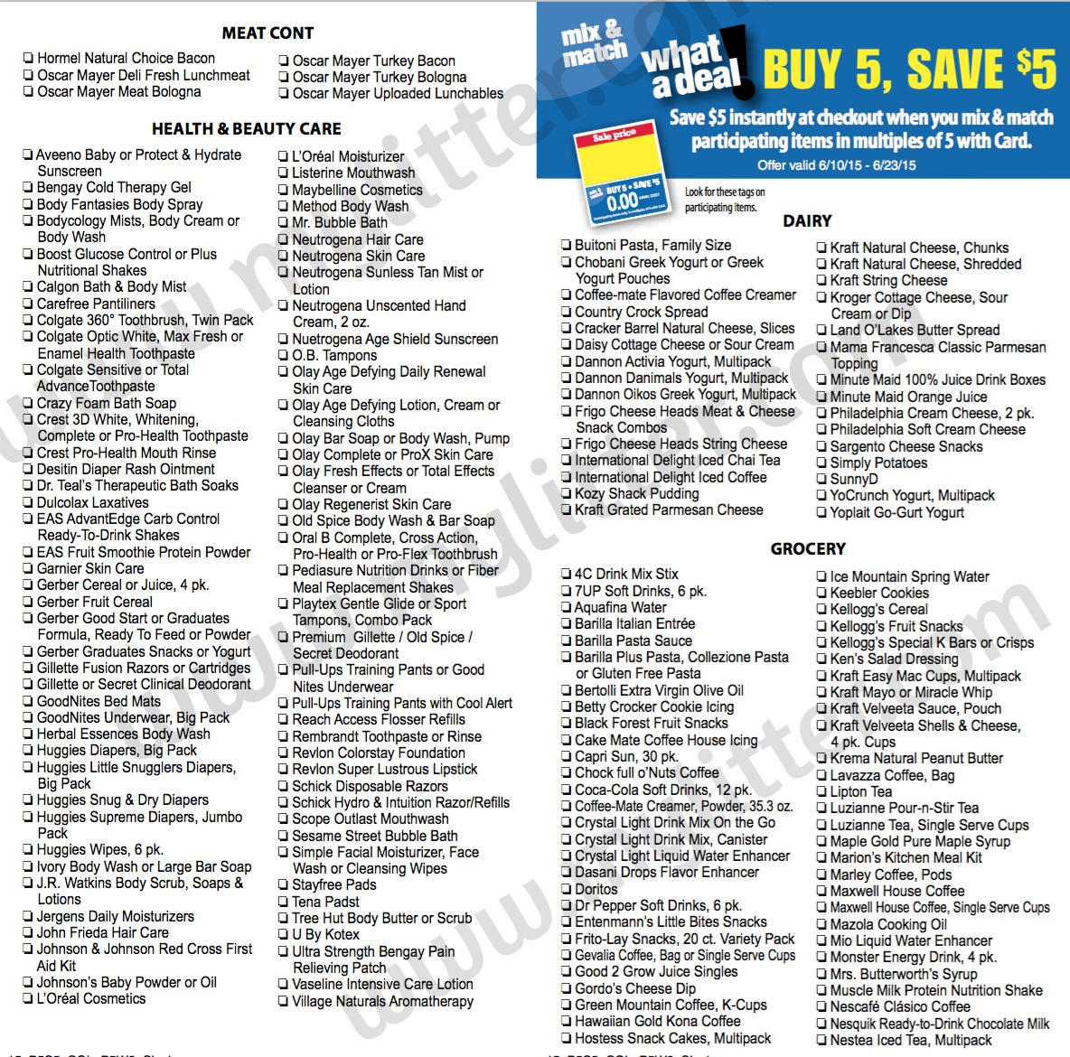 Kroger Mega Event Starting Tomorrow MyLitter One Deal At A Time
