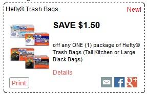 Hefty garbage bag coupons