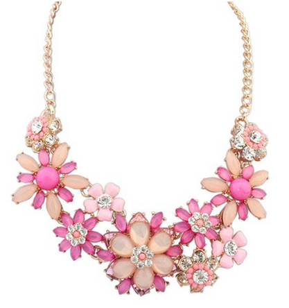 Pretty Pink Flower Bubble Necklace 999 Mylitter One Deal At