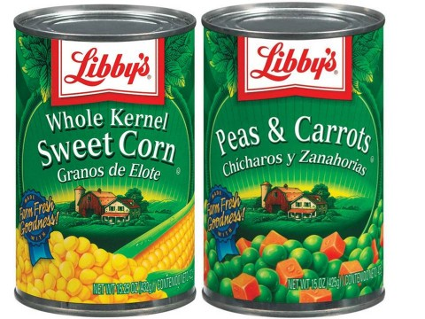 libbys canned veggies