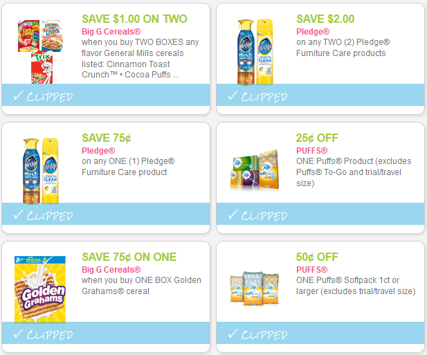 preclipped coupons
