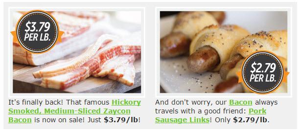 zaycon bacon sausage