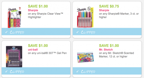 graphic relating to School Supplies Coupons Printable referred to as Fresh Printable Sharpie and College or university Offer Discount codes! - MyLitter