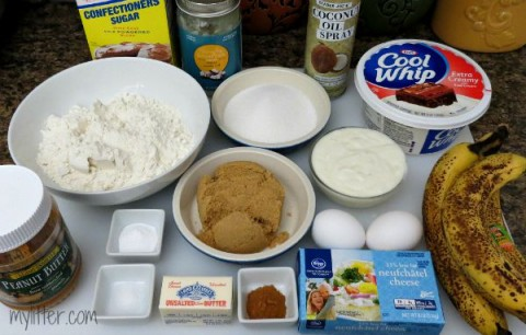 Banana Cake & Peanut Butter Frosting - Ingredients
