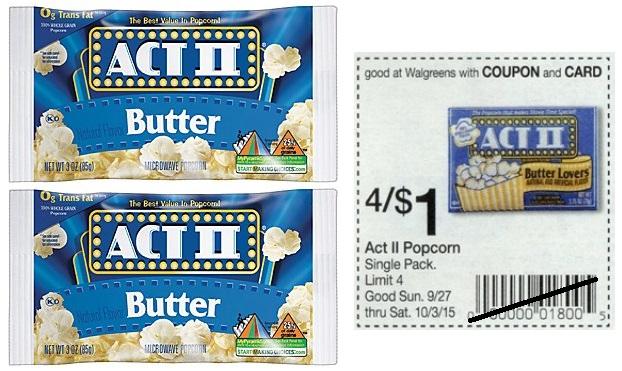 act popcorn walgreens deals