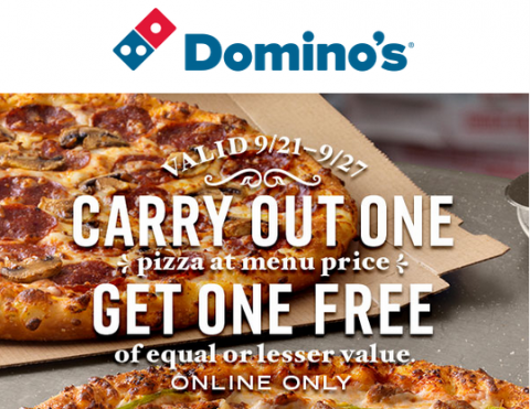 Starting today and through September 24th, head over to ezeciris.ml where they are offering up Buy One Pizza at Menu Price AND Get One Free when you order online and opt for carryout. Head here to get this deal and to place your order.