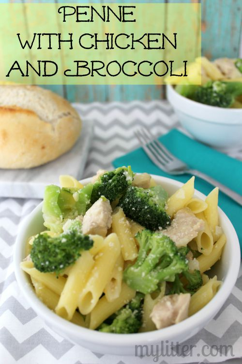 Penne with Chicken and Broccoli Recipe - MyLitter - One ...