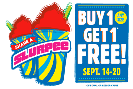Buy 7 slurpees get 11 free