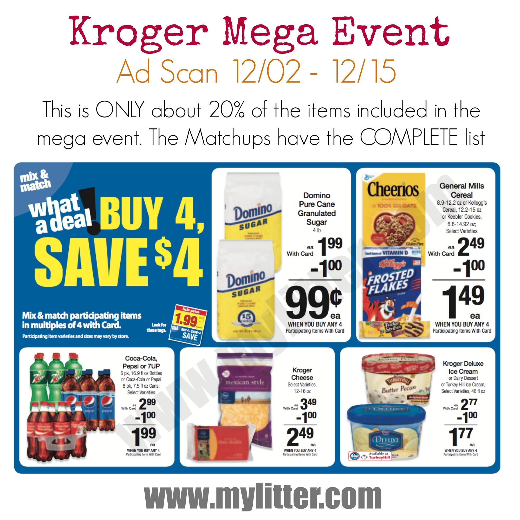 Kroger mega event ad scan