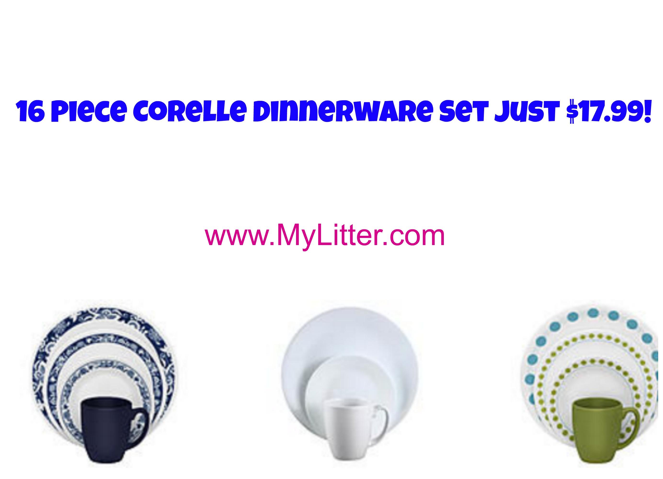 corellekmart  sc 1 st  MyLitter & Kmart: Corelle 16 pc Dinnerware Set Just $18 Reg $40! - MyLitter ...