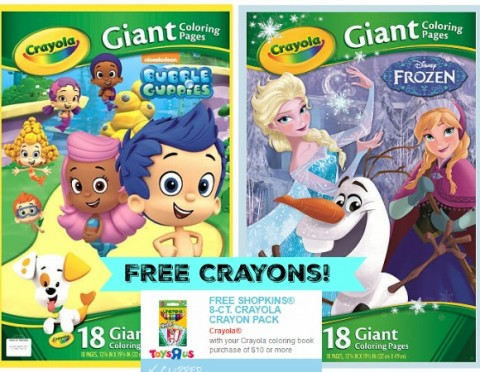 Toys R Us Free Shopkins Crayons With 10 Coloring Book Purchase