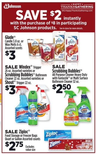 Dollar General SC Johnson Product Deals Items As Low As 100ea