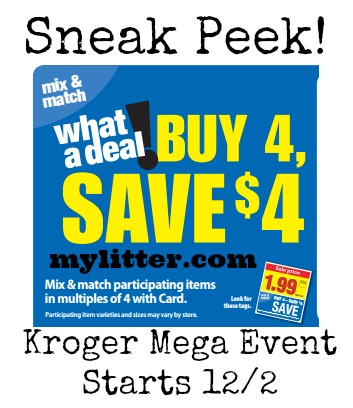 kroger sneak peek mega event