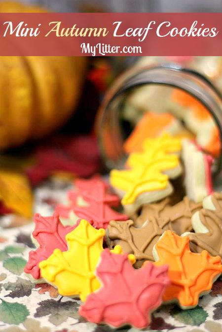 mini fall leaf cookies