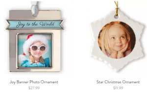 snapfish ornaments
