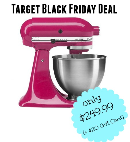 target black friday deal now kitchenaid ultra stand mixer 20 target gift card. Black Bedroom Furniture Sets. Home Design Ideas