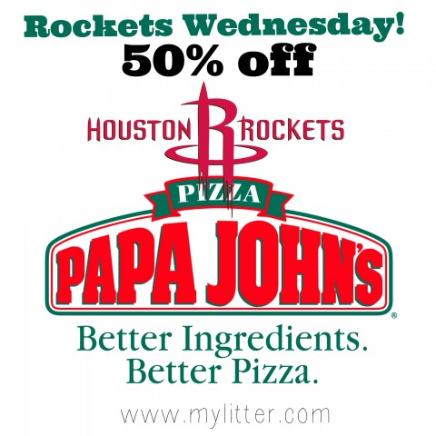 Rockets Wednesday PapaJohns
