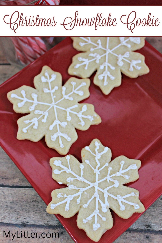 Christmas Snowflake Cookie Recipe