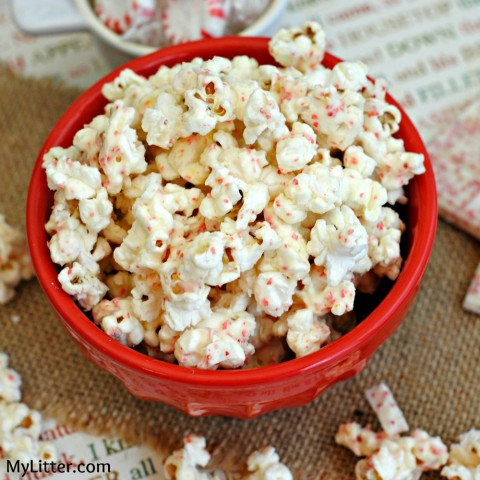 White Chocolate Peppermint Popcorn Recipe